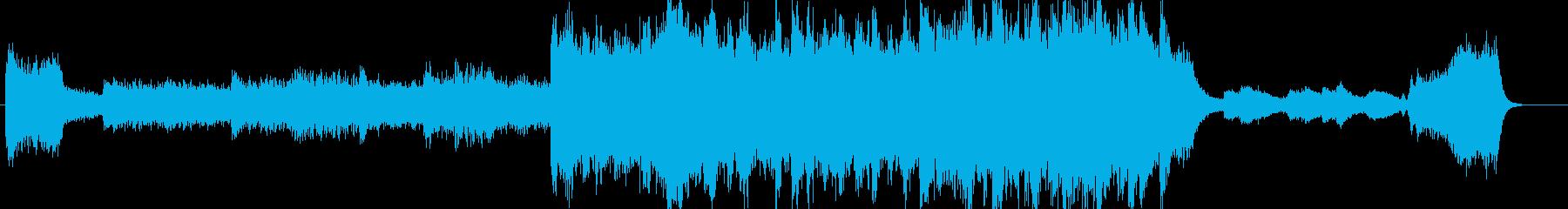 悪・恐ろしい雰囲気のオーケストラジングルの再生済みの波形