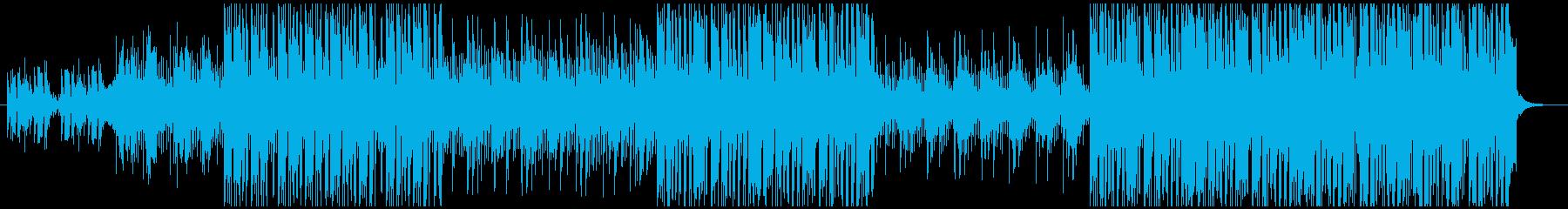 淡々としたクールなシンセサウンドの再生済みの波形