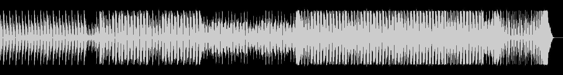 ポップで跳ね感のあるテクノの曲の未再生の波形