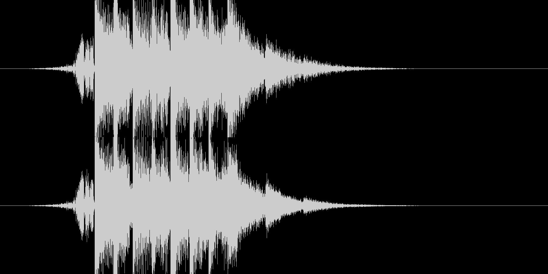 音圧のあるシンセ系の未再生の波形