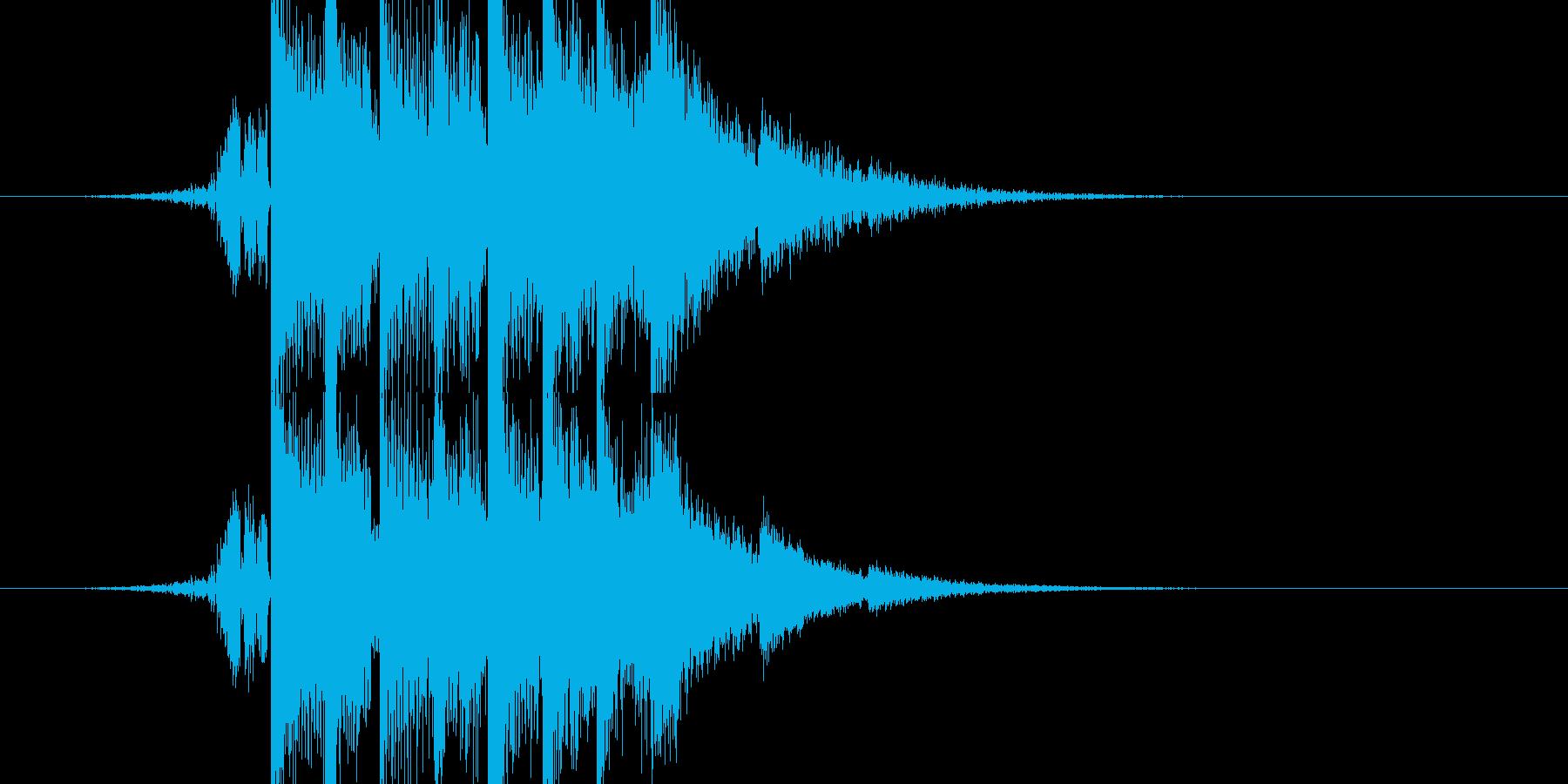 音圧のあるシンセ系の再生済みの波形