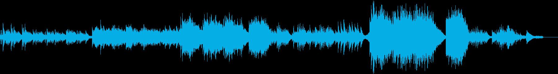 ピアノと弦楽器の切ない劇伴風BGMの再生済みの波形