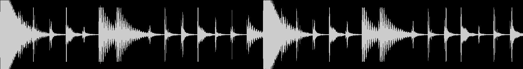 サルサの基本リズム4小節 BPM184の未再生の波形