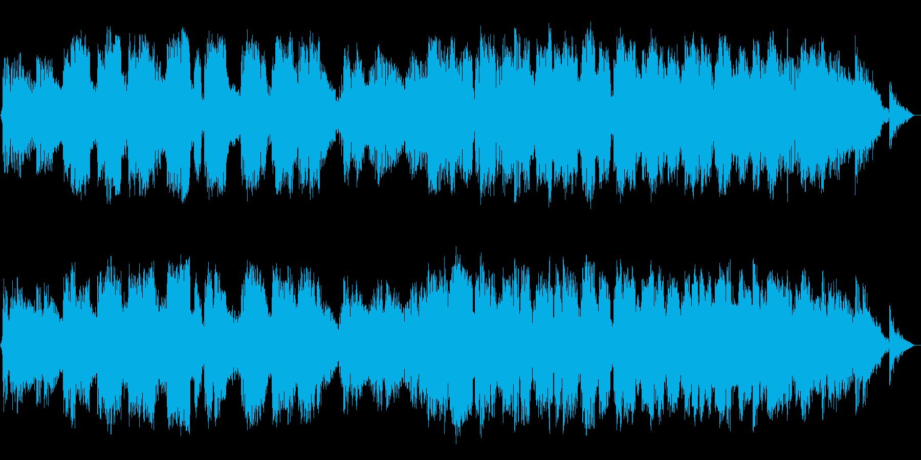ひっそりとした竹笛のヒーリング瞑想音楽の再生済みの波形
