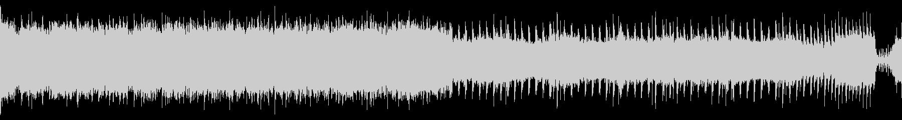 【ループ】激しいロック盛り上がるアンセムの未再生の波形