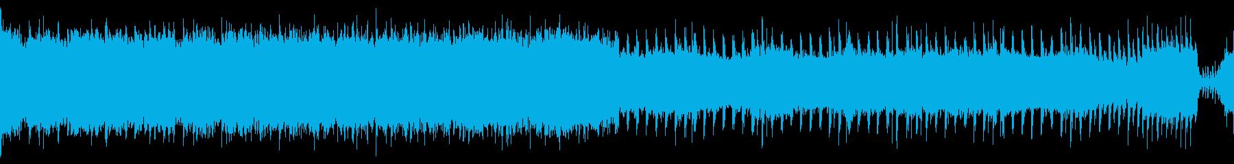 【ループ】激しいロック盛り上がるアンセムの再生済みの波形