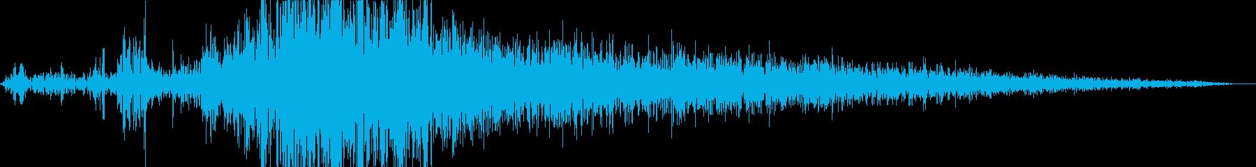 袋から小豆を出す音の再生済みの波形