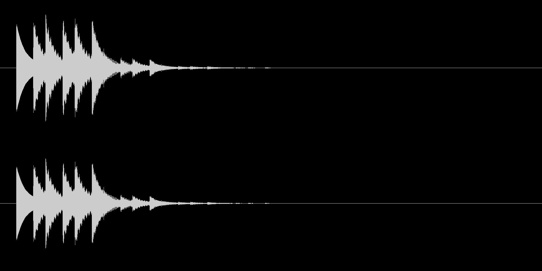 チャリチャリチャリーンなコイン獲得の音6の未再生の波形