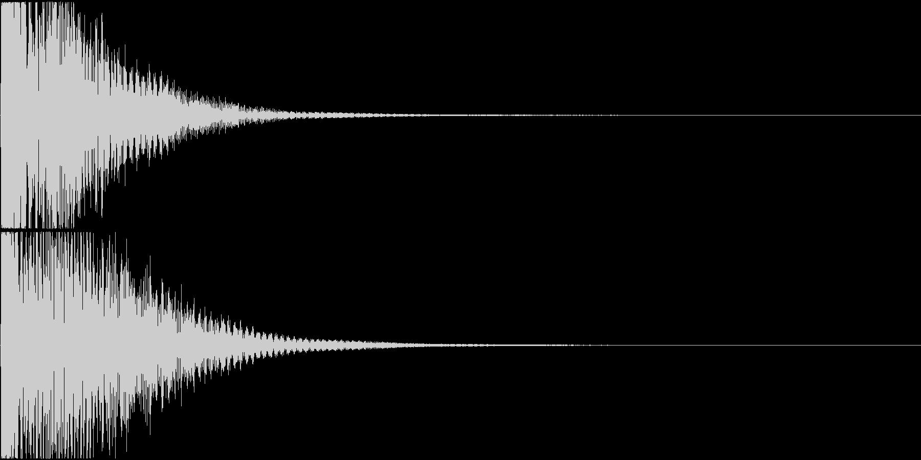 日常アニメ系のボタン効果音「てん!」の未再生の波形