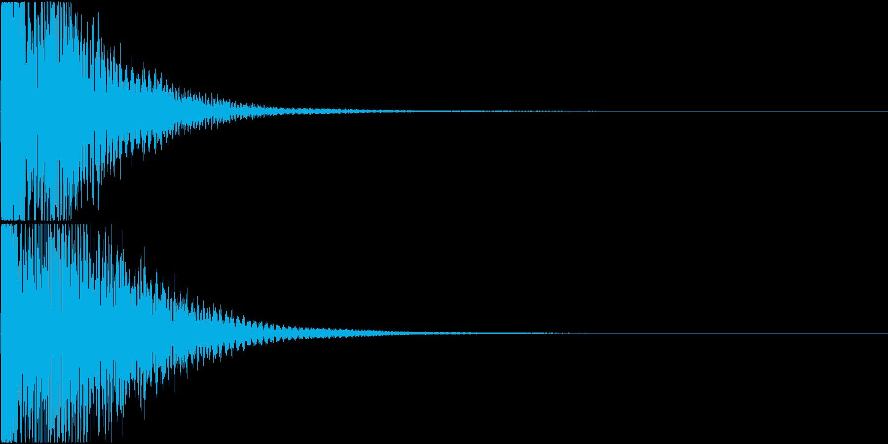 日常アニメ系のボタン効果音「てん!」の再生済みの波形