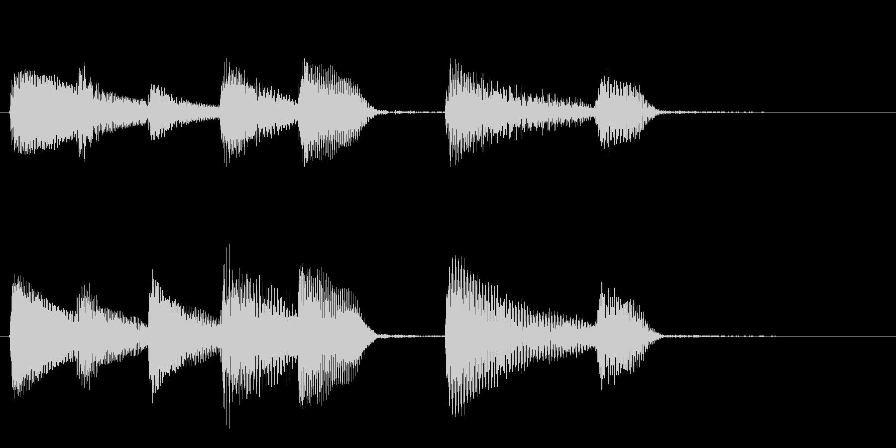 短いピアノサウンドロゴ_ジングル3秒の未再生の波形
