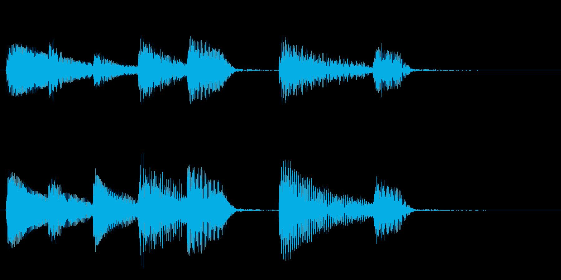 短いピアノサウンドロゴ_ジングル3秒の再生済みの波形