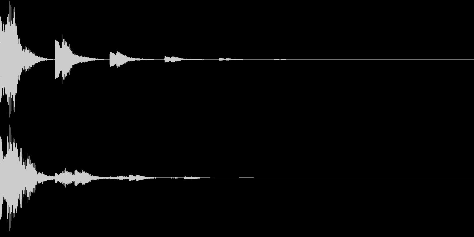 キランキランキラ…(スタート音、決定音)の未再生の波形