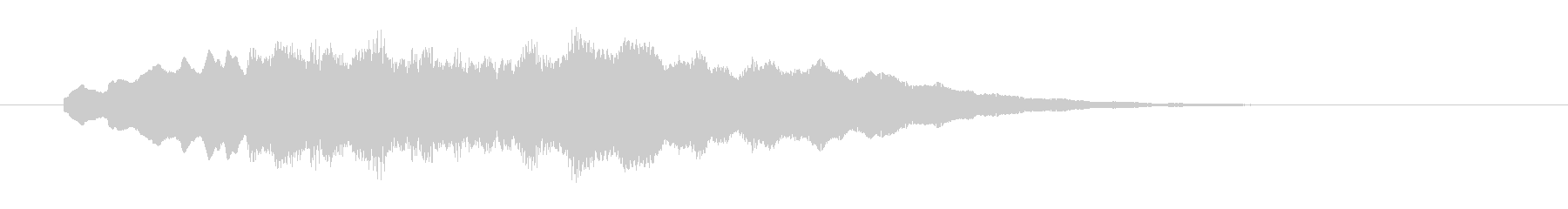 エレクトリックピアノのサウンドロゴの未再生の波形
