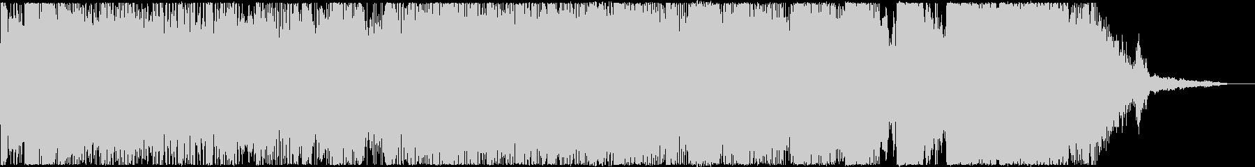 勢いのあるアニソンロック風のジングルの未再生の波形
