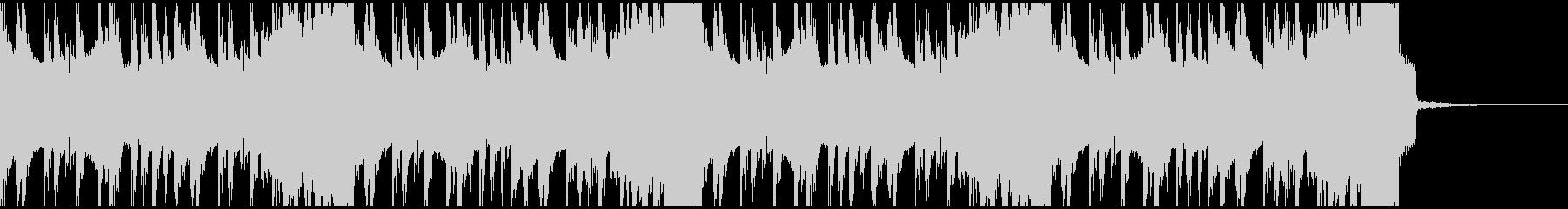 不思議でデジタルな雰囲気のイントロビートの未再生の波形