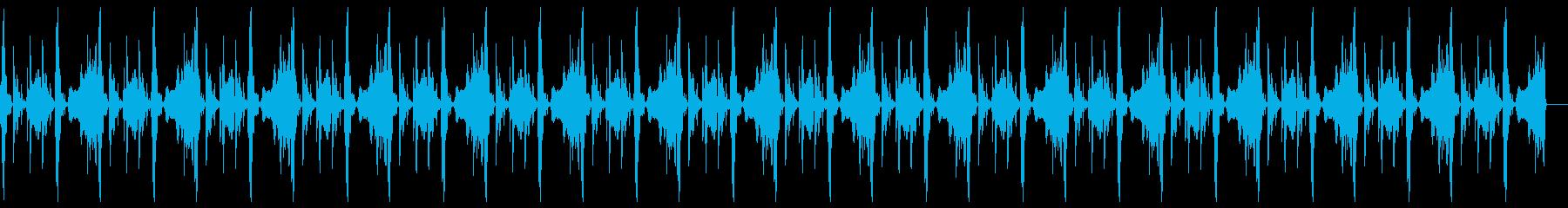 車の効果音を使ったループの再生済みの波形