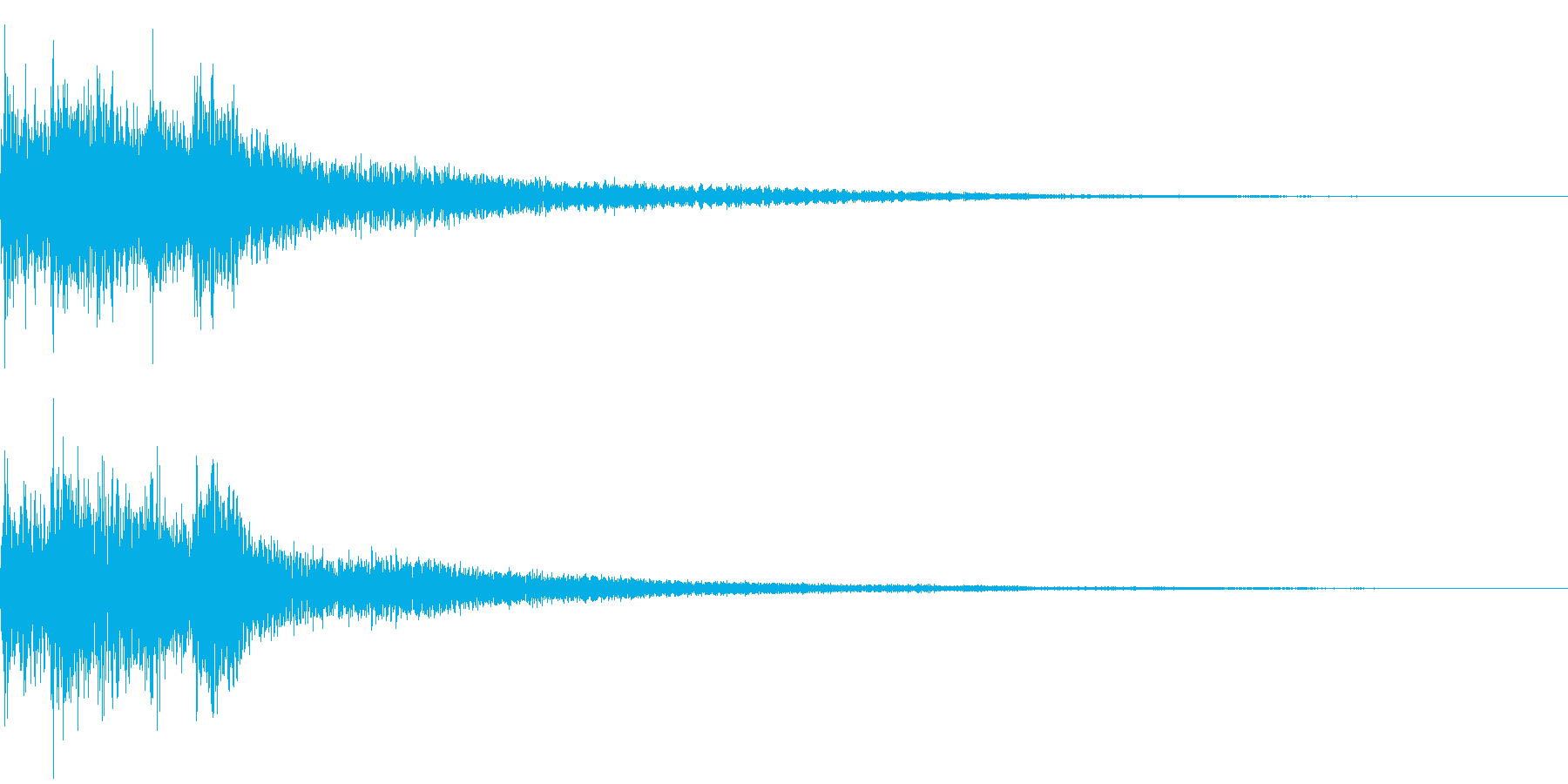 ゲームスタートの再生済みの波形