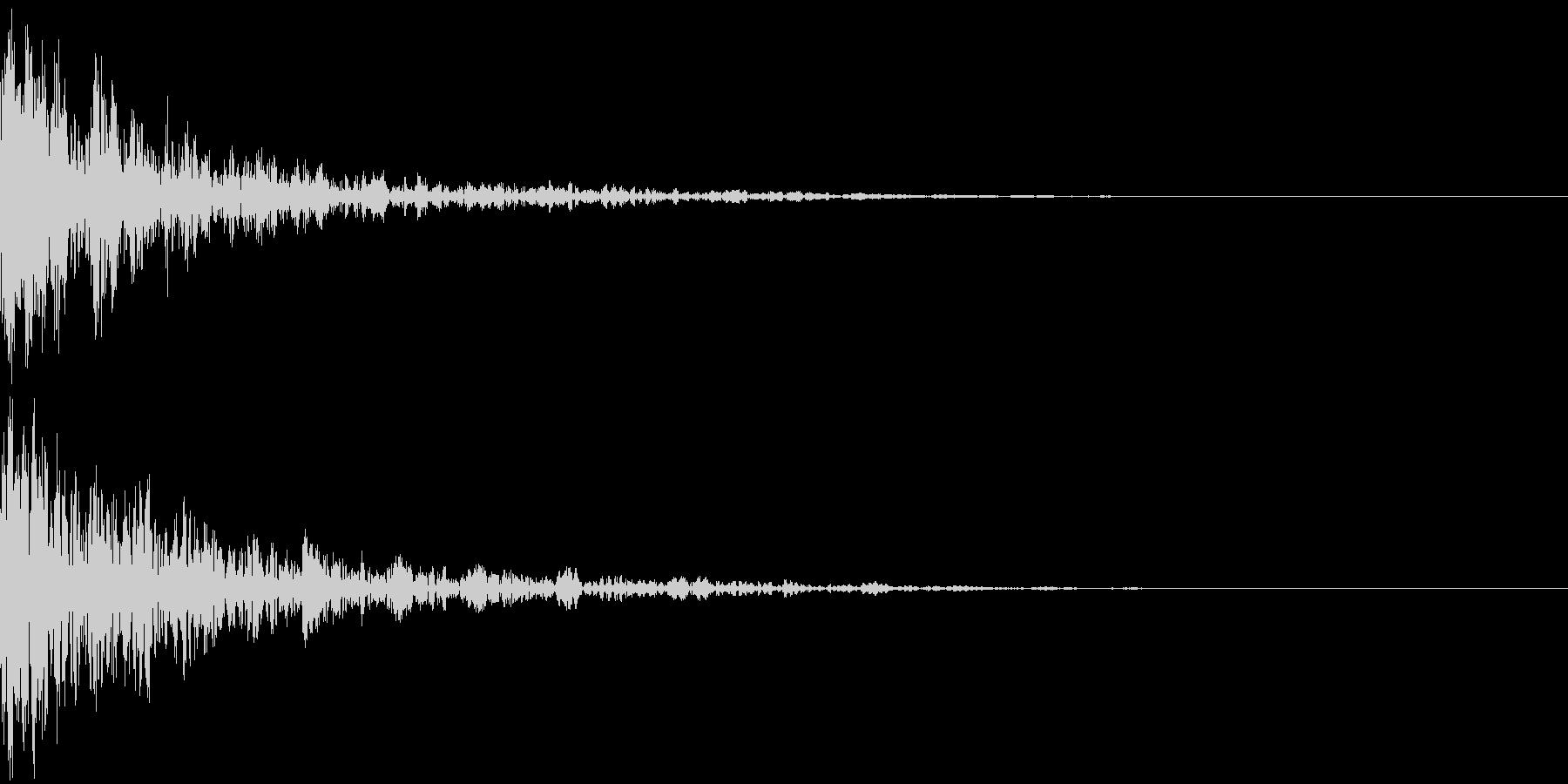 ドーン-52-2(インパクト音)の未再生の波形