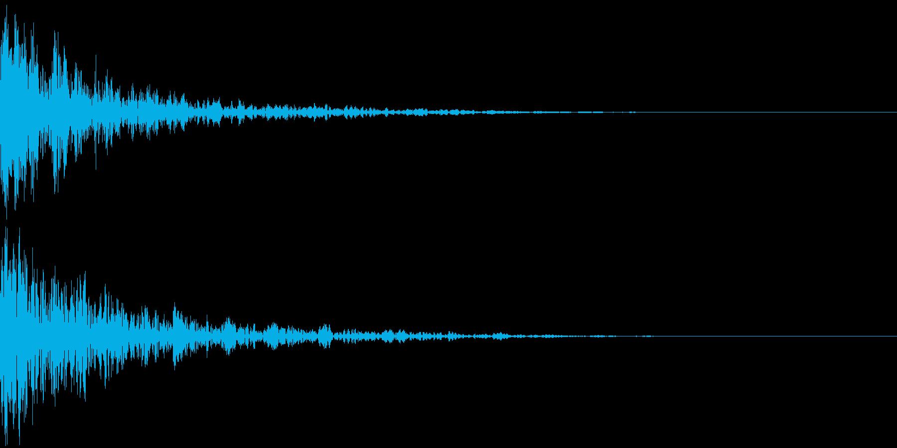 ドーン-52-2(インパクト音)の再生済みの波形