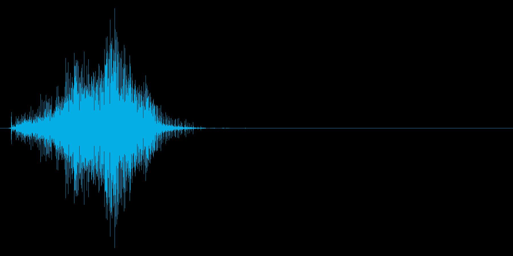 チャックの開閉音_その1(バッグ、服)の再生済みの波形