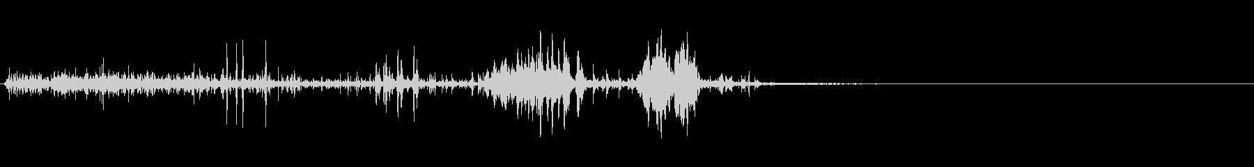 クイック静電気バズ2の未再生の波形