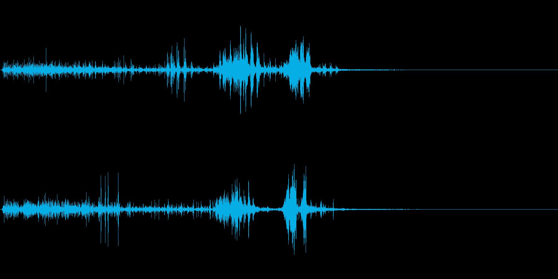 クイック静電気バズ2の再生済みの波形
