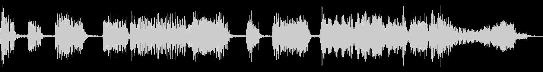 サックスのシンプルなジャズジングルの未再生の波形