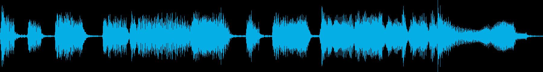 サックスのシンプルなジャズジングルの再生済みの波形