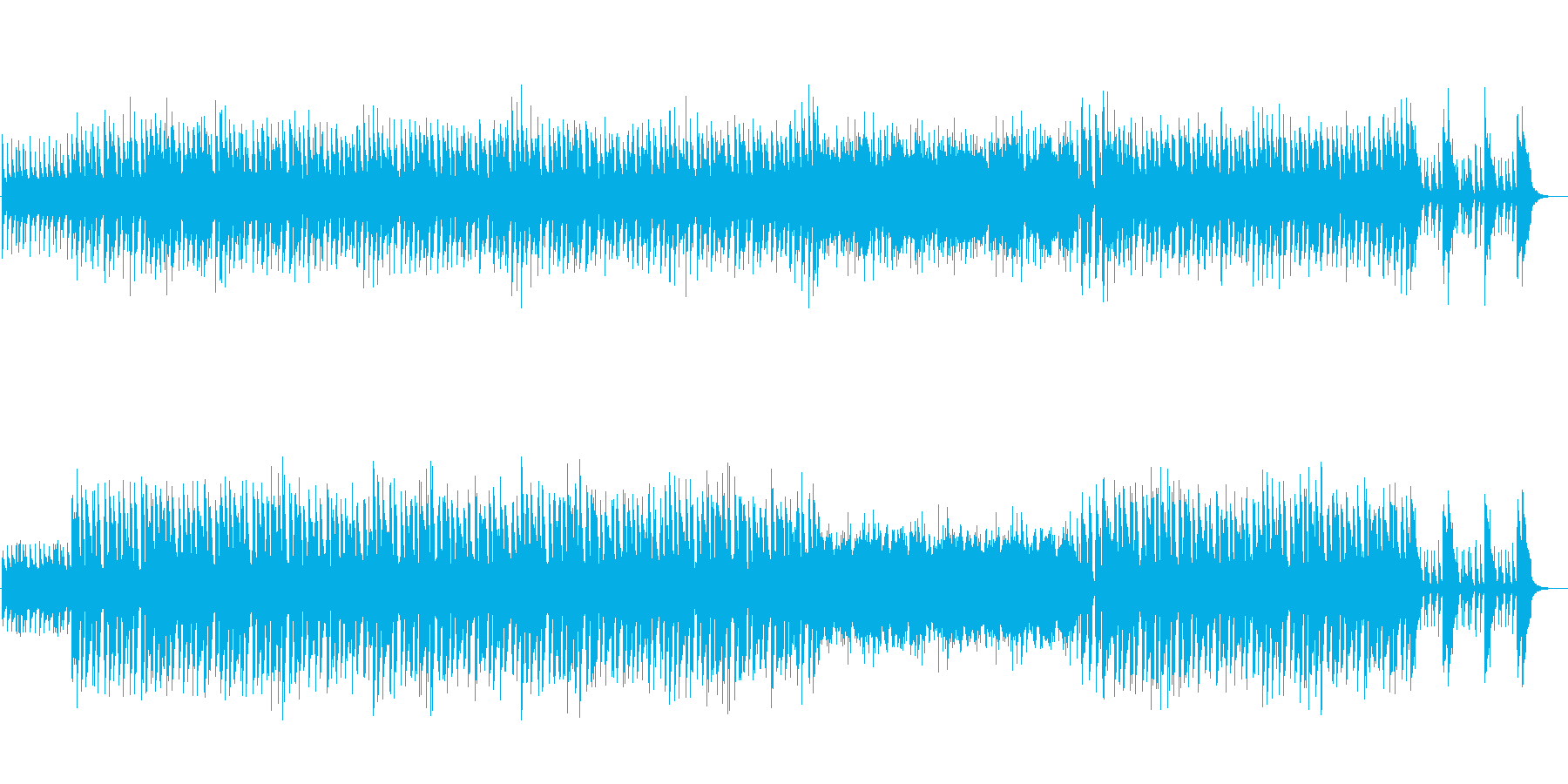 映像向けの明るくポップなインストBGMの再生済みの波形