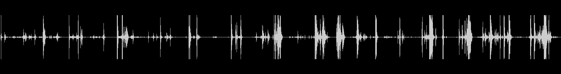 ガラスプレートナイフフォークタップbの未再生の波形