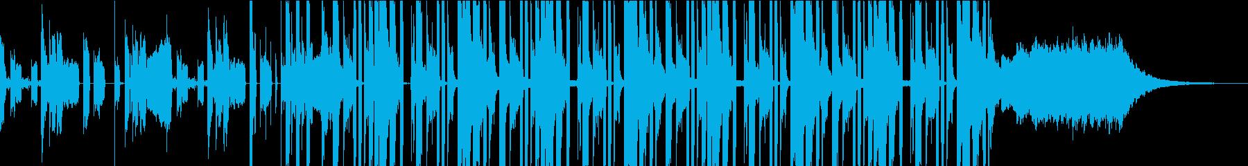 スタイリッシュで現代的、おしゃれなCMの再生済みの波形