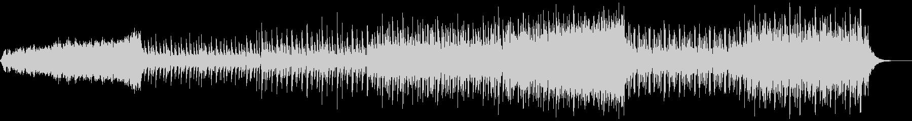 シンセサウンドと三味線のユニゾンの三拍子の未再生の波形
