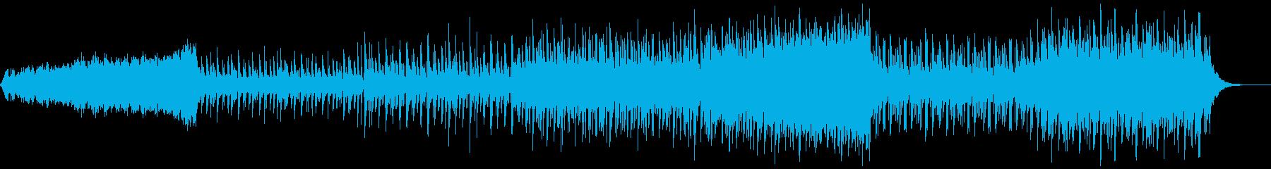 シンセサウンドと三味線のユニゾンの三拍子の再生済みの波形