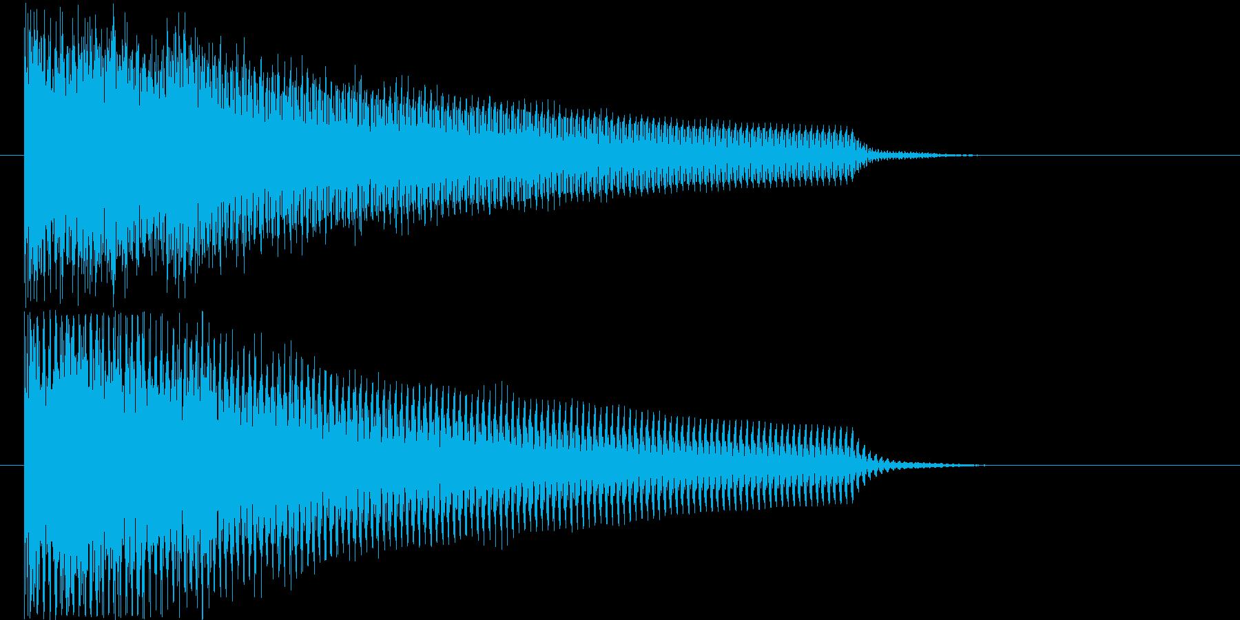 緊張感のあるギターシンセの再生済みの波形