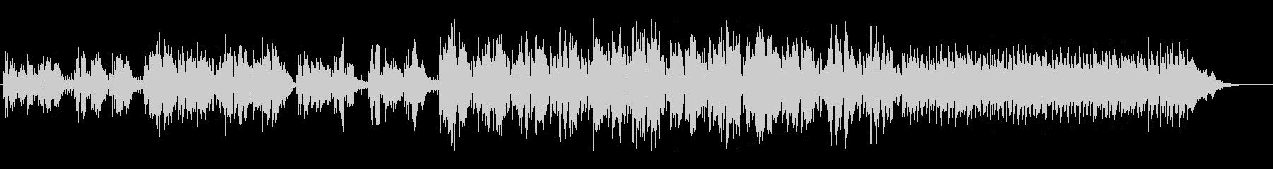 アコースティックなバラード曲の未再生の波形