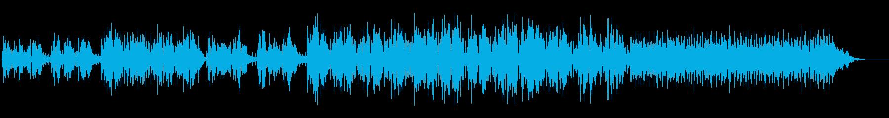 アコースティックなバラード曲の再生済みの波形