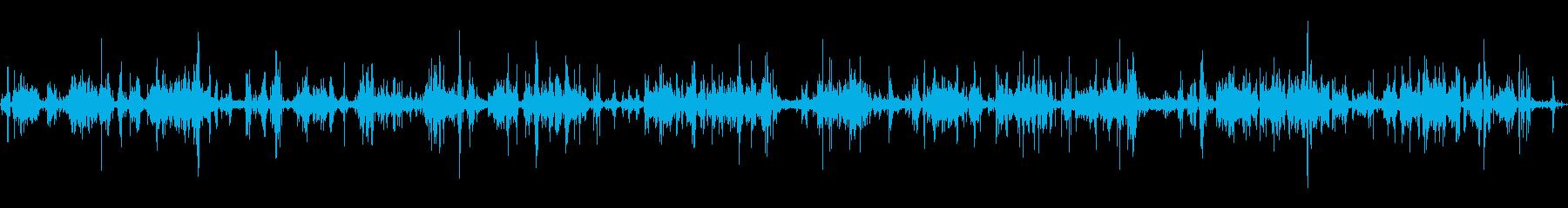 間欠泉鍋:バブリング、スチームヒスの再生済みの波形