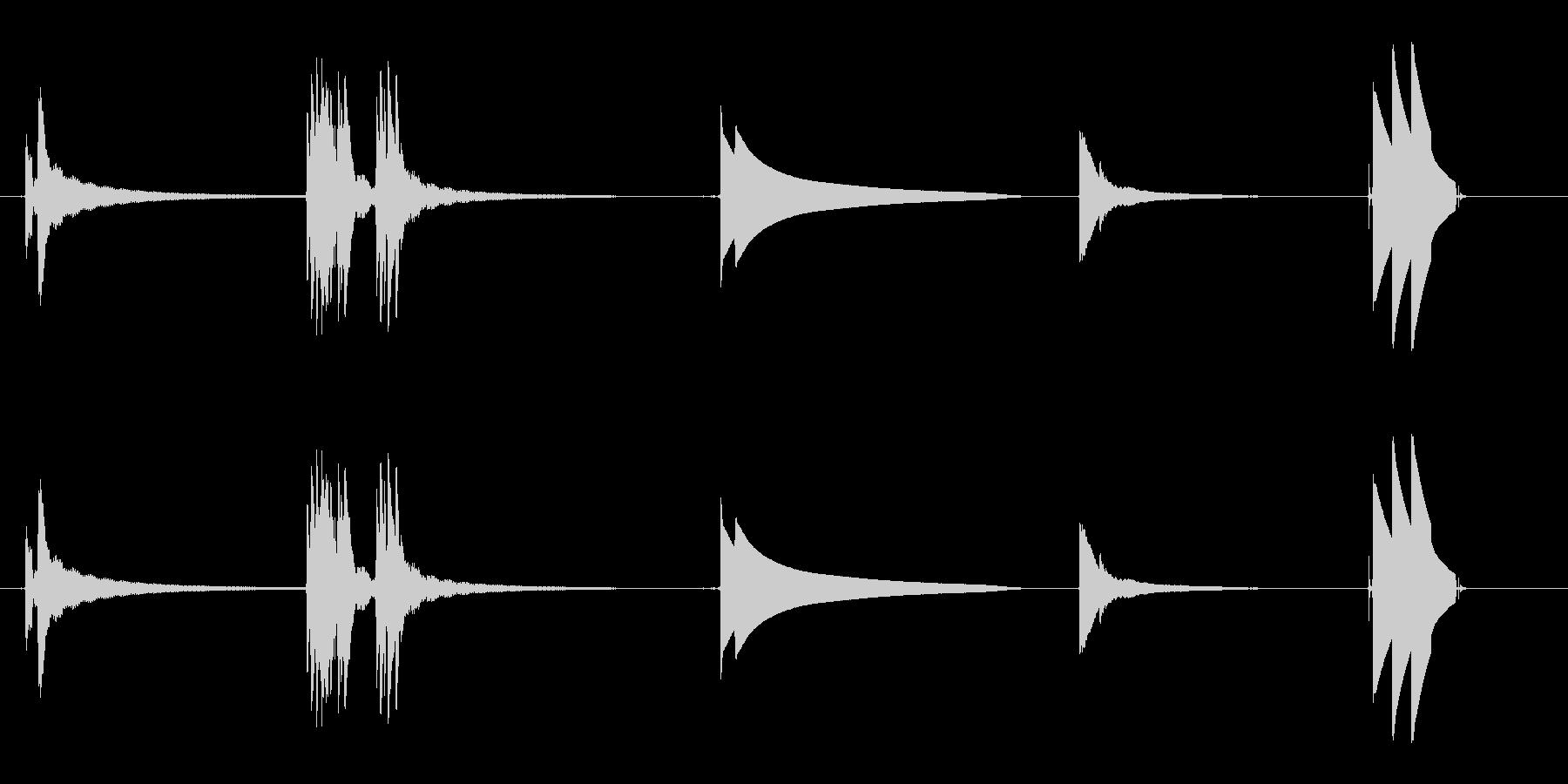 ドアベル1の未再生の波形