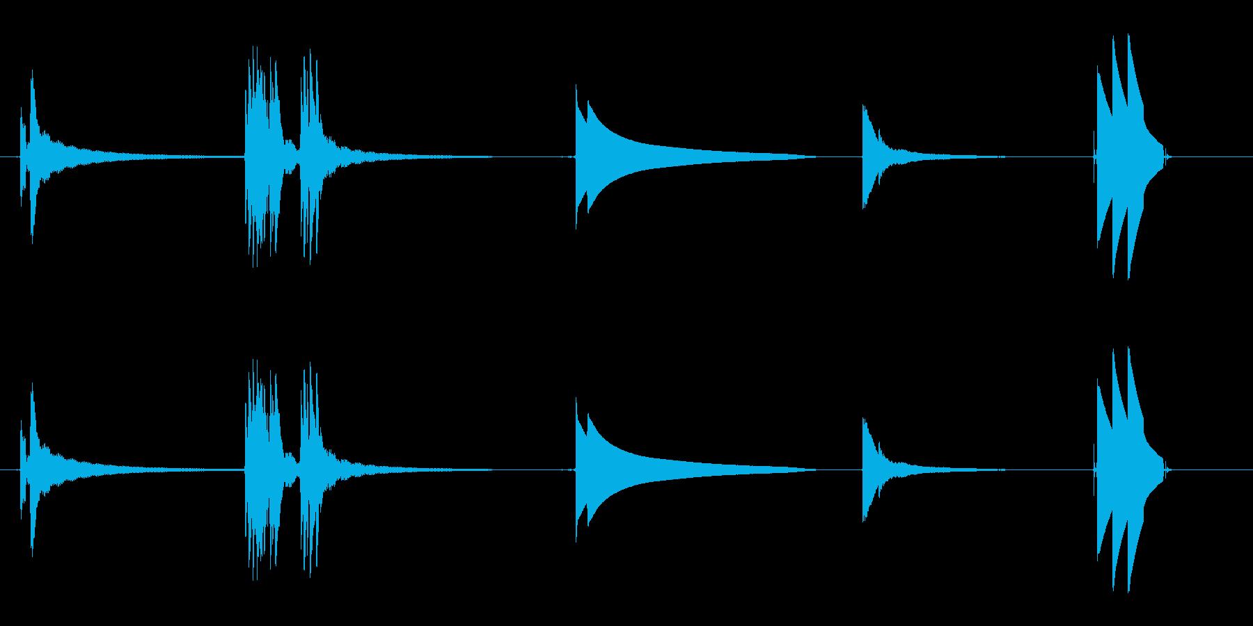 ドアベル1の再生済みの波形