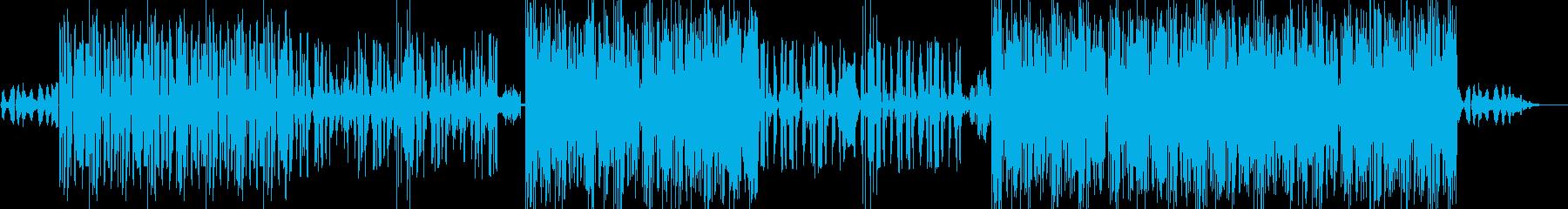 無機質な四つ打ちBGMの再生済みの波形