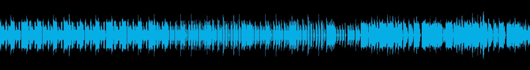 8bitのレトロで軽快なゲームBGMの再生済みの波形