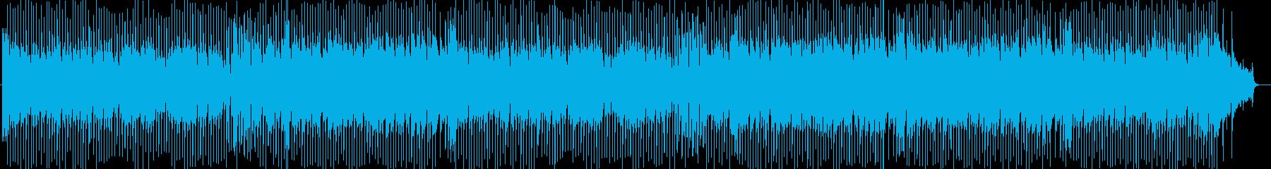 アップテンポのウキウキする曲の再生済みの波形