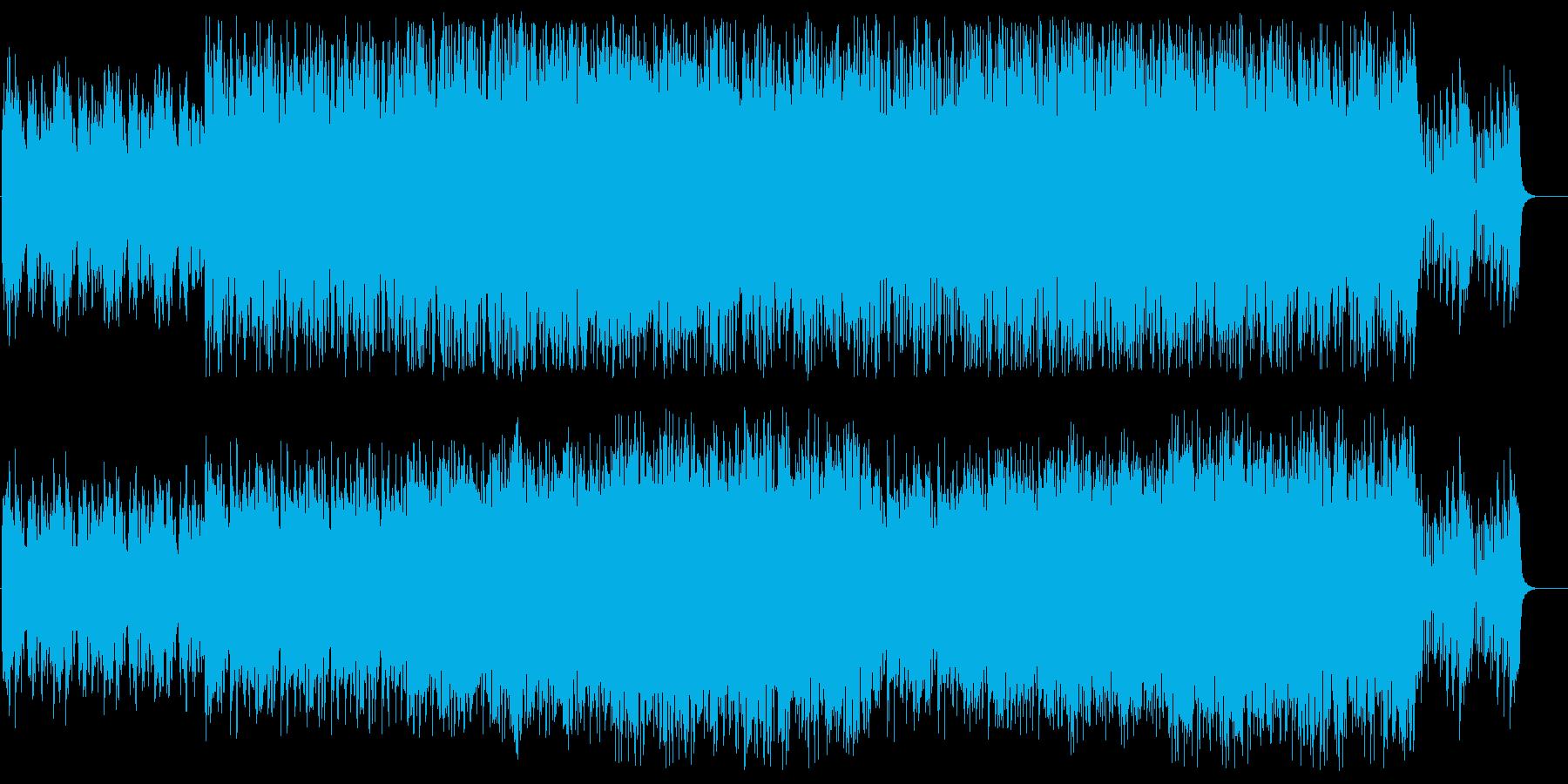 シリアスで不穏なシンセサイザーサウンドの再生済みの波形