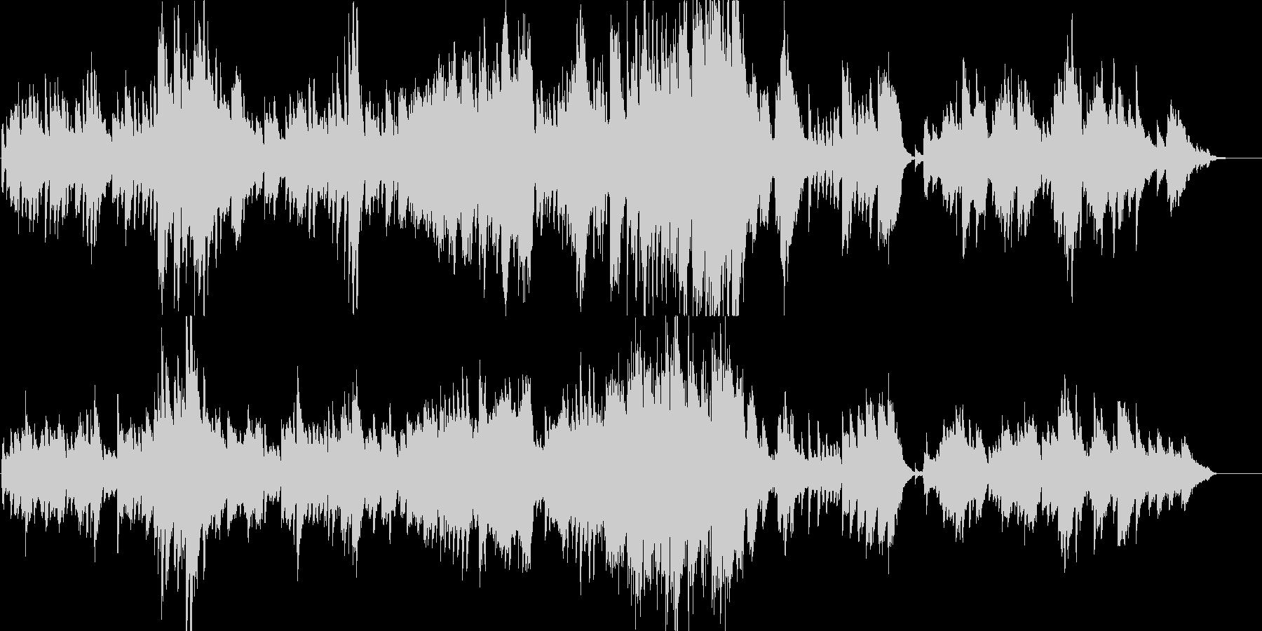 告白の雪-ピアノバラードの未再生の波形