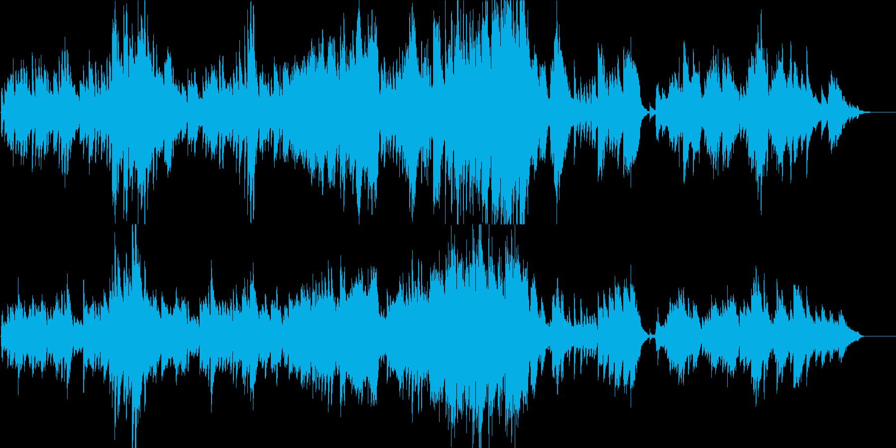 告白の雪-ピアノバラードの再生済みの波形