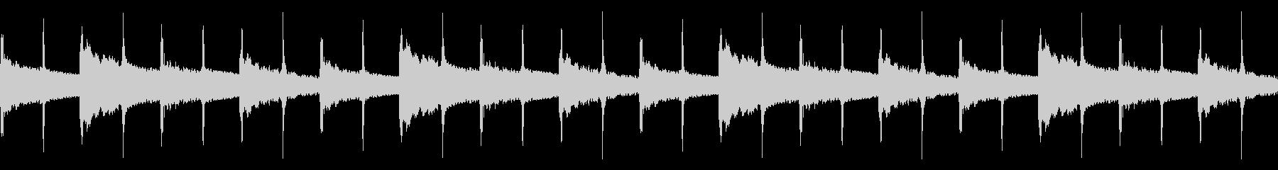 振り子のチクタクの未再生の波形