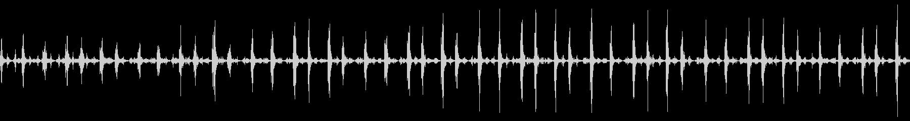 シェイカーのリズムの未再生の波形