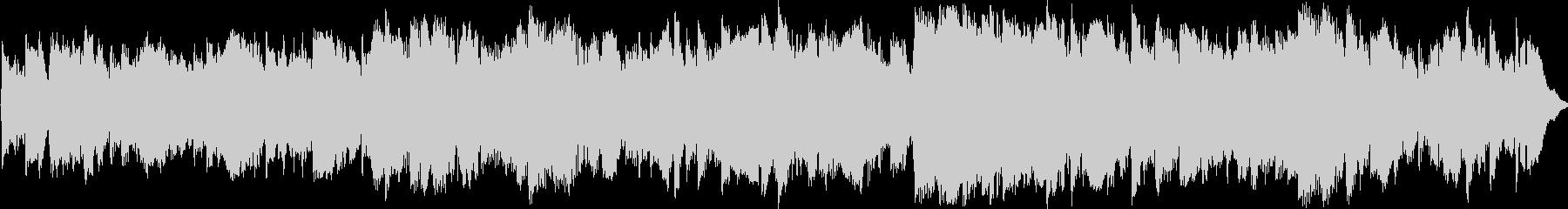 アコギとピアノの幻想的なBGMの未再生の波形