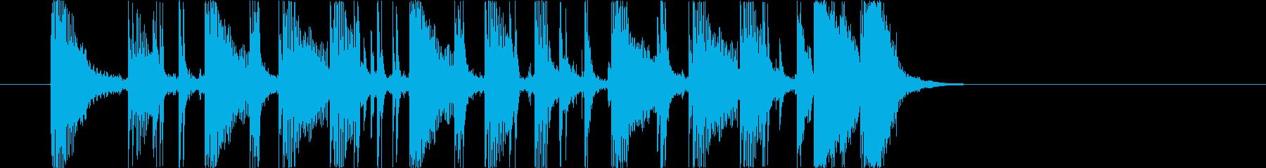 シンプルでクリアなギターカッティング5秒の再生済みの波形